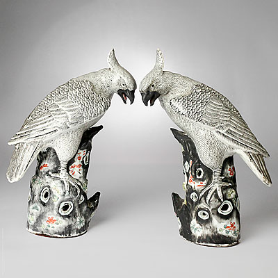 CERAMIC BIRD FIGURES