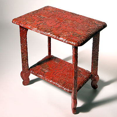 BURMESE TEAK SIDE TABLE