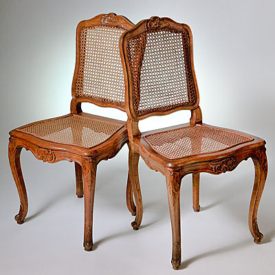 FRENCH LOUIS XV CANED CHAIRS