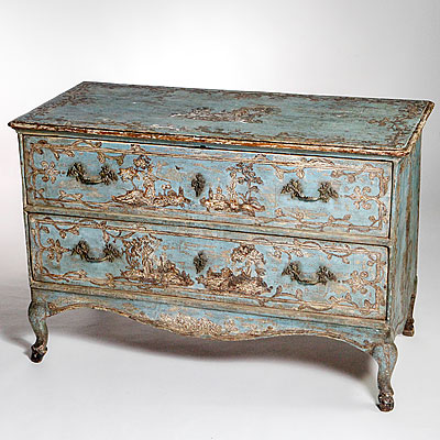 PAINTED VENETIAN COMMODE