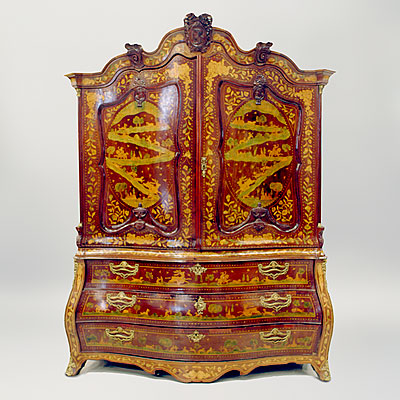 DUTCH MARQUETRY CUPBOARD