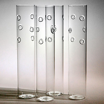 GLASS & WILLOW FOUR-VASE SET