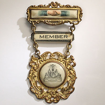 WELSH FRATERNAL ORDER BADGE