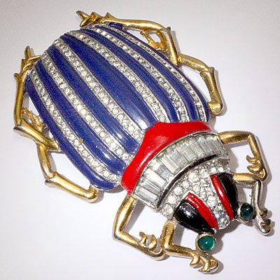 TRIFARI BEETLE BUG BROOCH