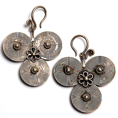 ETHNIC MIAO SILVER EARRINGS