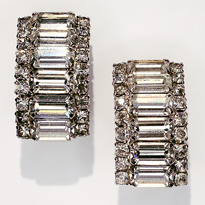CRYSTAL CLIP EARRINGS