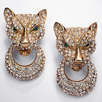 BIJOUX CASCIO PANTHER EARRINGS