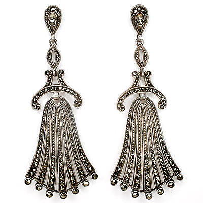 FAHRNER MARCASITE EARRINGS
