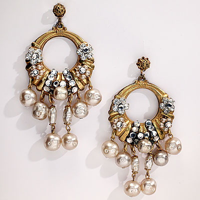 GOLD & PEARL HASKELL EARRINGS