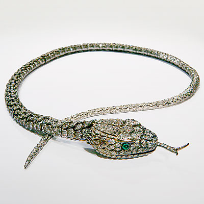 ARTICULATED DIAMOND SNAKE NECKLACE