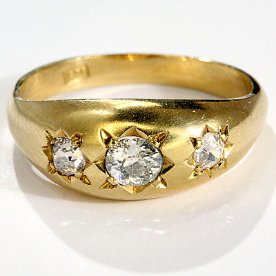 ANTIQUE DIAMOND GYPSY RING