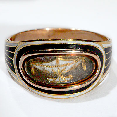 RARE EMPIRE MOURNING RING