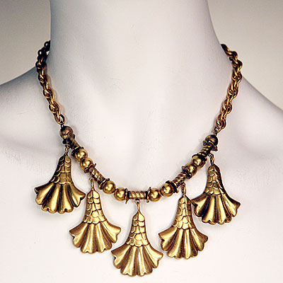 JOSEFF GOLD NECKLACE & EARRINGS