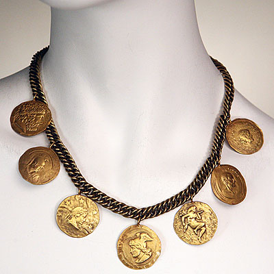 JOSEFF GOLD COIN NECKLACE
