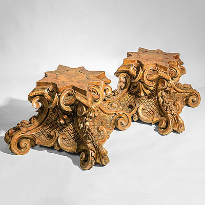 ITALIAN CARVED WOOD  BASES