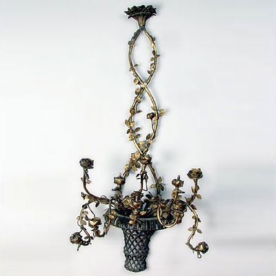 BASKET WALL SCONCE