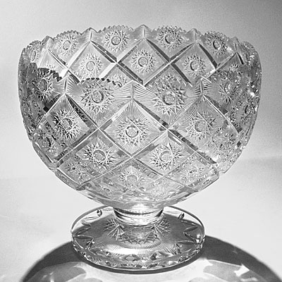CUT CRYSTAL PUNCH BOWL