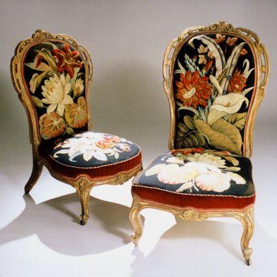 GILTWOOD PARLOR CHAIRS