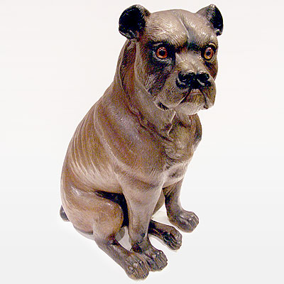 ANTIQUE TERRA COTTA BULLDOG