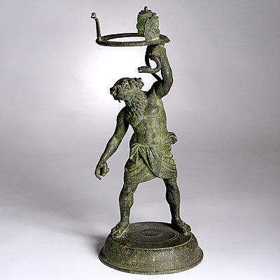 BRONZE FIGURE LAMP
