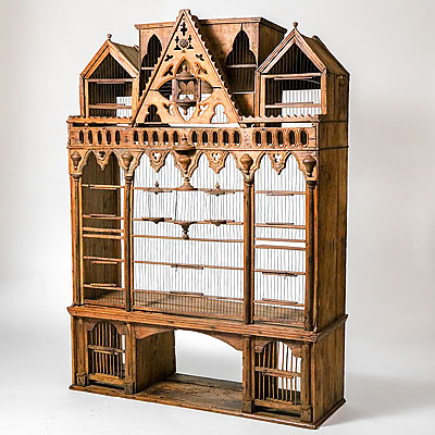 VICTORIAN WOOD BIRD HOUSE