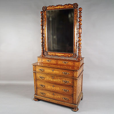 MARQUETRY DRESSING CHEST