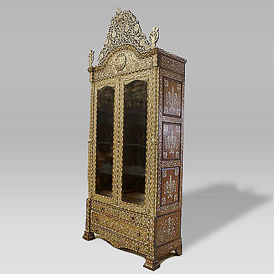 ANTIQUE SYRIAN INLAID CABINET