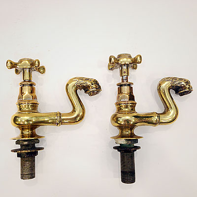 ENGLISH BRASS WATER SPIGOTS