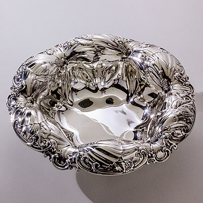 HIBISCUS FLOWER SILVER BOWL