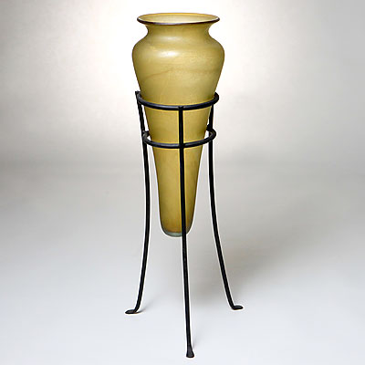 TALL STANDING GLASS VASE