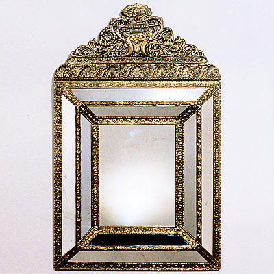 BRASS CUSHION MIRROR