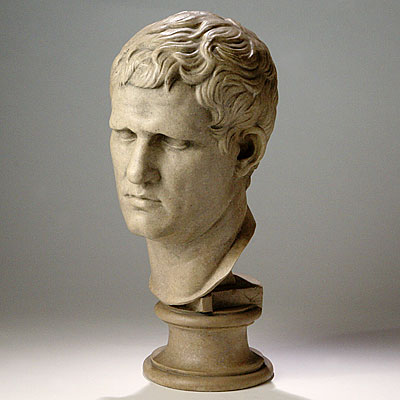 RESIN BUST OF AGRIPPA