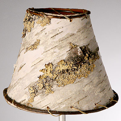 EXTRA SMALL WHITE BIRCH LAMP SHADE