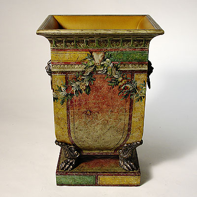 POMPEIAN WOODEN PLANTER