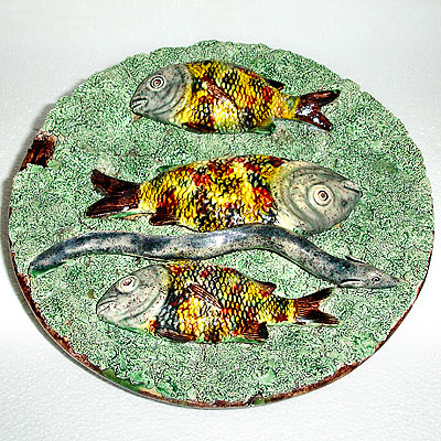 THREE FISH PALISSY PLATE