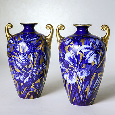 PAIR CERAMIC VASES