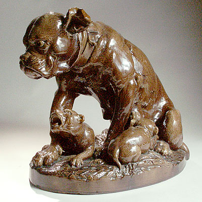 CERAMIC ENGLISH BULLDOG GROUP