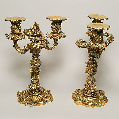 ENGLISH BRASS CANDELABRA
