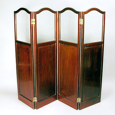 ANTIQUE MAHOGANY SCREEN