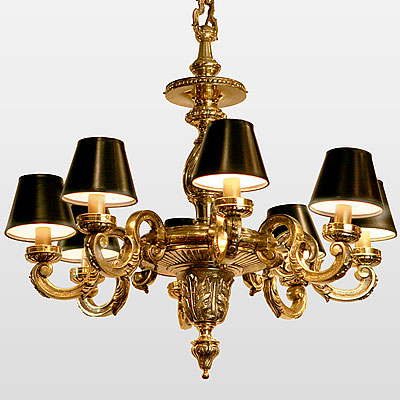 IRISH BRONZE CHANDELIER