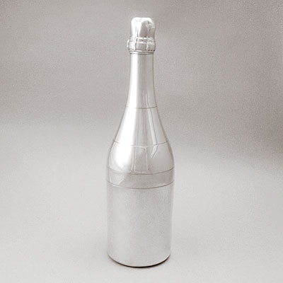 SILVER CHAMPAGNE BOTTLE