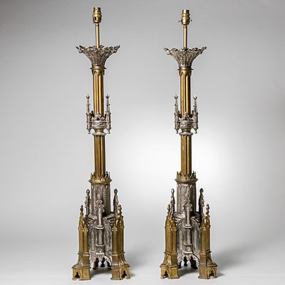 FRENCH ALTAR STICK LAMPS