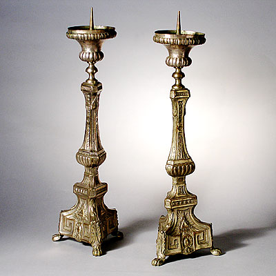 FRENCH ALTAR CANDLESTICKS