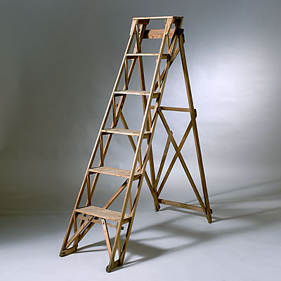 ANTIQUE WOOD LADDER