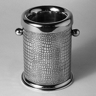 PEWTER CROC WINE COOLER