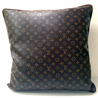 MONOGRAM LEATHER PILLOW