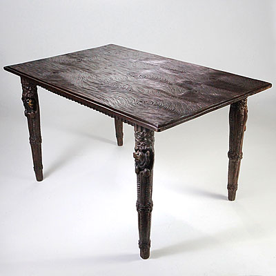 BLACK FOREST BEAR LEG TABLE