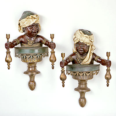 BLACKAMOOR WALL SCONCES