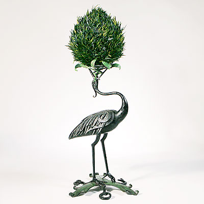 FRENCH IRON HERON STAND
