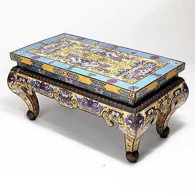 CLOISONNE COFFEE TABLE